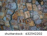 natural stone wall background... | Shutterstock . vector #632542202