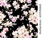 beautiful watercolor pattern... | Shutterstock . vector #632544662