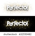 perfect paper banner with... | Shutterstock .eps vector #632550482