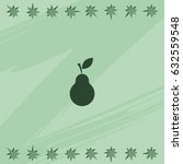 pear icon. | Shutterstock .eps vector #632559548