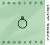 diamond ring icon.