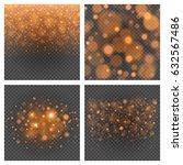bokeh light orange sparkles on... | Shutterstock .eps vector #632567486