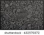 vector line art chalkboard hand ... | Shutterstock .eps vector #632570372