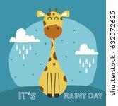 Awesome Retro Cute Giraffe...
