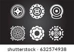 american indian ethnic symbols | Shutterstock .eps vector #632574938