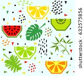 summer seamless pattern with... | Shutterstock .eps vector #632575856
