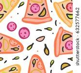 seamless pattern of italian... | Shutterstock .eps vector #632577662