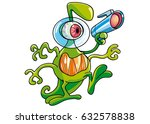 angry alien  with gun | Shutterstock .eps vector #632578838