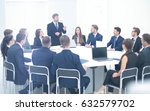 boss holding company holds a... | Shutterstock . vector #632579702
