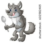 vector illustration of hungry... | Shutterstock .eps vector #632582405