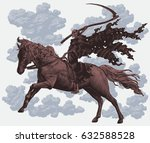 death on horseback. hand drawn...