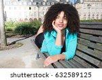 mixed beautiful young woman... | Shutterstock . vector #632589125