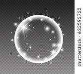 sparkles round shiny frame... | Shutterstock .eps vector #632592722