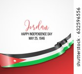 jordan happy independence day... | Shutterstock .eps vector #632596556