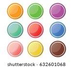 9 color shiny modern circles | Shutterstock .eps vector #632601068