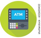 atm machine vector icon | Shutterstock .eps vector #632603432