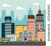 buildings home market... | Shutterstock .eps vector #632606342