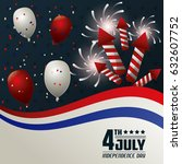 4th july independence day card...   Shutterstock .eps vector #632607752