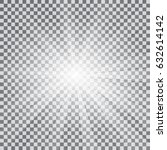 realistic sun rays light effect ... | Shutterstock .eps vector #632614142