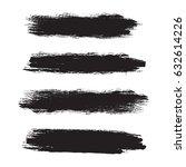 set of grunge brush strokes....   Shutterstock .eps vector #632614226