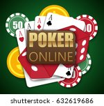 casino online poker traditional ... | Shutterstock .eps vector #632619686