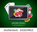 online casino design poster... | Shutterstock .eps vector #632619812
