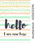 vector baby milestone card for... | Shutterstock .eps vector #632623196
