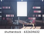 Modern Library Interior With...
