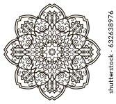 mandala. ethnic decorative... | Shutterstock .eps vector #632638976