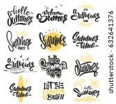 summer hand drawn lettering... | Shutterstock .eps vector #632641376