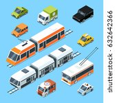 isometric municipal transport... | Shutterstock .eps vector #632642366