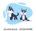 illustration of a cartoon husky ...   Shutterstock .eps vector #632643488