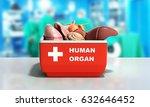 organ transportation concept... | Shutterstock . vector #632646452