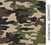camouflage seamless pattern ... | Shutterstock .eps vector #632646512