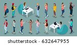 trendy isometric vector people  ... | Shutterstock .eps vector #632647955