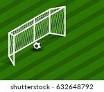 soccer  football field with... | Shutterstock .eps vector #632648792