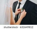 the bride in a wedding dress... | Shutterstock . vector #632649812