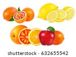 collection of fruits isolated... | Shutterstock . vector #632655542