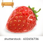 strawberry and water drops.... | Shutterstock .eps vector #632656736