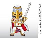 templar knight vector... | Shutterstock .eps vector #632659562