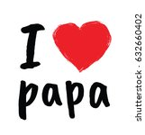 i love papa   greetings for... | Shutterstock .eps vector #632660402