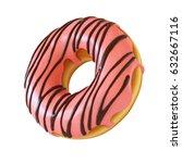 glazed donut or doughnut 3d... | Shutterstock . vector #632667116