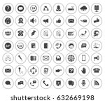communication icons | Shutterstock .eps vector #632669198