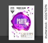 party flyer  template or banner ... | Shutterstock .eps vector #632670296
