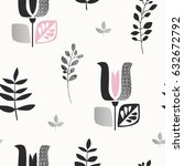 seamless pattern with abstract... | Shutterstock .eps vector #632672792