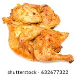 grilled chicken isolated on... | Shutterstock . vector #632677322