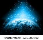 best internet concept of global ... | Shutterstock . vector #632680652