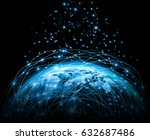best internet concept of global ... | Shutterstock . vector #632687486