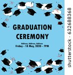graduation poster. throwing... | Shutterstock .eps vector #632688368