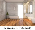 3d rendering wood bright... | Shutterstock . vector #632694092